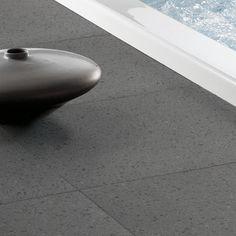 Natural lava stone flooring. Honed gray lava stone #tiles #flooring #lavastone