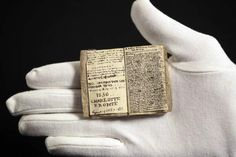 Miniature manuscript by Charlotte Brontë that fits comfortably into the palm of a hand, fetched over a million dollars at a Sotheby's auction recently.     Charlotte wrote the manuscript when she was 14 and living with her family at Haworth in Yorkshire.