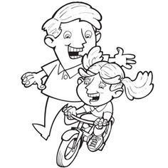 Free unique and printable father 39 s day coloring pages for for Father and daughter coloring pages