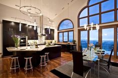 beautiful windows in the kitchen