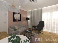 Mały przytulny nowoczesny salon w apartamencie letnim.