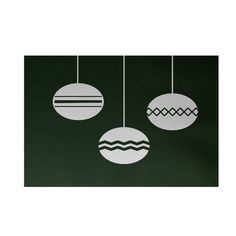 The Holiday Aisle Geo-Bulbs Decorative Holiday Print Dark Green Indoor/Outdoor Area Rug Rug Size: 2' x 3'