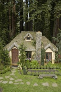 This is a playhouse! I'm super jealous of the little girl who gets this fairytale playhouse!