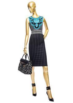 """Vintage Crocodile"" Dress - gotta love the stylized gorgon design!"