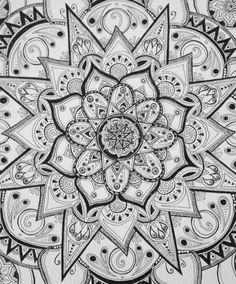Mandala Designs, harborinthestorm: Part of a mandala I drew for...