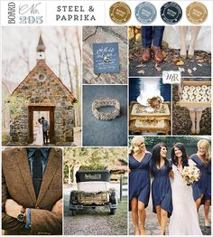Love this colour palette as an alternative. Love the warm raw paprika colour with cool blue