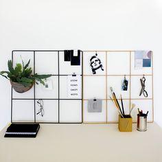 Wallment wire grid memo boards. Minimal Nordic inspiration board. Finnish design. #anslagstavla #memoboard
