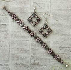 Linda's Crafty Inspirations: Silky Squares Earrings