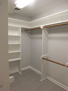 Ideas For Small Closet Organization Layout Shelves Small Walk In Closet Ideas, Diy Closet Ideas, Diy Walk In Closet, Diy Closet System, Small Closet Design, Master Closet Design, Small Closets, Closet Designs, Wardrobe Room