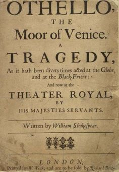 Otello by William Shakespeare