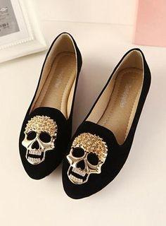 2013 fall fashion new diamond skull rivets suede flat shoes fashion women\'s singles sets with flat feet - ZZKKO http://zzkko.com/n223043 $25.83 USD
