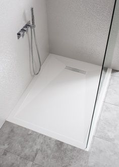 25mm Stone Resin shower tray with Linear waste in 25mm Stone Resin Trays   Simpsons - Shower Enclosure Products
