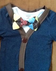 Sampson -Baby Boy Clothes – Newborn Outfit - Infant Bowtie Cardigan- Photo Prop- Shower Gift- Preppy- Ring Bearer-Christol and Company