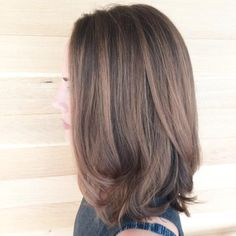 Soft brunette look. Hair by SALON by mil k+ honey stylist, Jordan M.