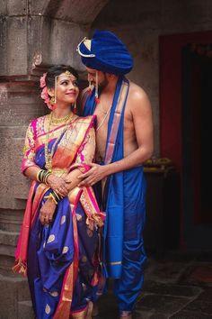 Marathi Bride, Marathi Wedding, Indian Photoshoot, Saree Photoshoot, Couple Wedding Dress, Outdoor Indian Wedding, Indian Wedding Couple Photography, Nauvari Saree, Wedding Saree Collection
