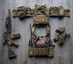 Awesome load out! Tactical Survival, Tactical Gear, Plate Carrier Setup, Special Forces Gear, Battle Rifle, Airsoft Gear, Combat Gear, Tac Gear, Naval