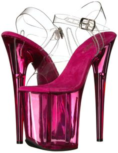 Pleaser Women's Platform Sandal ** Check this awesome product by going to the link at the image. (This is an affiliate link) Sexy High Heels, Beautiful High Heels, Crazy Heels, Transparent Heels, Stripper Heels, Shoe Image, Purple Shoes, Sensual, Me Too Shoes