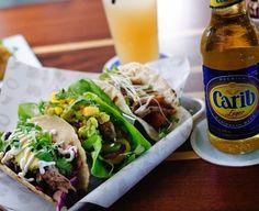 Tacos and beer at The Longboard in Cruz Bay, St. John, USVI. Coastalliving.com