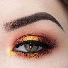 43 Sexy Sunset 😊 Eyes Makeup Idea For. 43 Sexy Sunset 😊 Eyes Makeup Idea For Prom And Wedding 💕 – Sunset Eye Makeup 13 Eye Makeup Art, Makeup Inspo, Makeup Ideas, Mua Makeup, Makeup Tutorials, Makeup Eyeshadow, Makeup Brushes, Wedding Makeup Tips, Prom Makeup