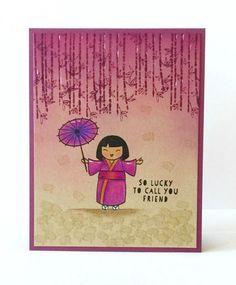 three umbrellas: Ellen Hutson July Color Trend Challenge