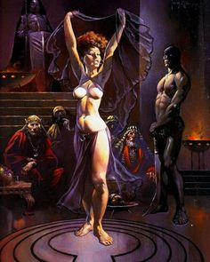 """FRANK FRAZETTA - """"Salome"""" Italian movie poster •1987 - item by instagram"""