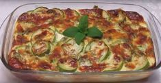 Zucchini and cheese casserole Supper Recipes, My Recipes, Fun Cooking, Kids Meals, Breakfast Recipes, Vegas, Vegetarian Recipes, Side Dishes, Food And Drink