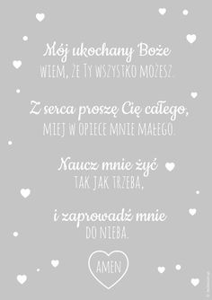 Plakaty z modlitwą Mój ukochany Boże Future Mom, Everything And Nothing, W 6, My Little Girl, Powerful Words, Motto, Just Love, Baby Room, Decoupage