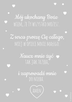 Plakaty z modlitwą Mój ukochany Boże