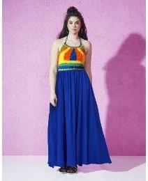 862efc957688 Crochet-trim Maxi Dress Plus Size Fashion