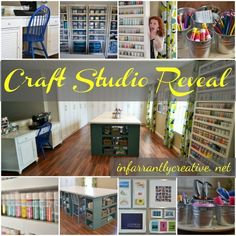 Take a peek into these super organized craft rooms and find inspiration for your own sewing space. Your sewing space doesn't have to be big to be useful!