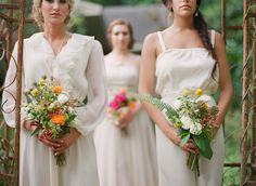 #rustic, #garden, #country, #wedding-dress, #bridesmaid, #romantic  Photography: Catherine Guidry - catherineguidry.com  Read More: http://www.stylemepretty.com/living/2013/08/28/summer-romance-styled-shoot/