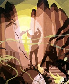 mural by Aaron Douglas. My favorite African American artist. A number of his murals can be seen at the Schomberg Center in NYC.