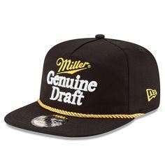 5be6e48e6 Men's Rusty Wallace New Era Black Retro Racing Golfer Snapback Adjustable  Hat