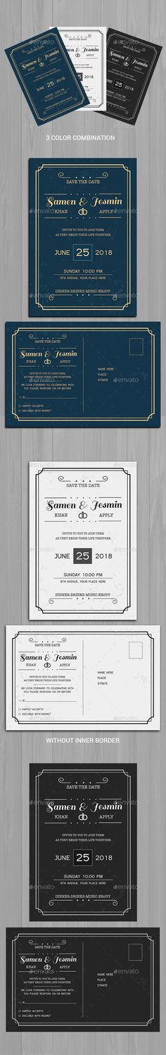 Buy Invitation & Post Card by on GraphicRiver. This Save The Date Postcard, can be used for your beautiful wedding. Very easy to edit text and colors. Invitation Card Birthday, Anniversary Invitations, Invitation Card Design, Baby Shower Invitations, Invitation Cards, Invites, Wedding Invitation, Text Icons, Postcard Design
