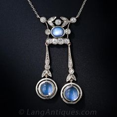 Moonstone and Diamond Lingerie Necklace, ca. 1900