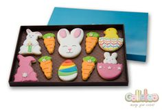 Pack grande especial Pascua, en color rosa: http://www.galletea.com/galletas-decoradas/