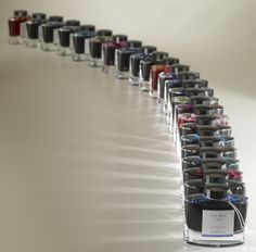 Pilot's Iroshizuku Ink, available in 24 colors.it's just a dream because of their price! :-(((