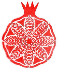 pomegranate print.