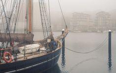 Poster: Boot im Nebel