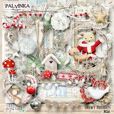Snowy Holidays Kit and Alpha by Palvinka Designs | Digital Scrapbook @ at The Digichick