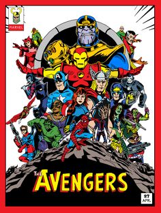 Avengers - Old comic book version of Infinity War Marvel Avengers, Marvel Dc Comics, Avengers Poster, Marvel Comic Universe, Bd Comics, Marvel Art, Old Comic Books, Marvel Comic Books, Marvel Characters