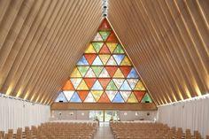 transitional church by the architect Shigeru Ban // christchurch, new zealand