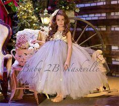 Ivory Tulle Flower Girl Dress | ... www.etsy.com/listing/171329322/tulle-flower-girl-dress-in-silver-ivory