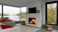 Contemporary built-in fireplace (wood-burning closed hearth) EVO 80-65 Barbas