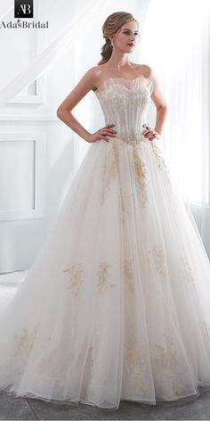 In Stock Alluring Tulle   Lace Sweetheart Neckline A-line Wedding Dress  With Beaded Lace Appliques e52343cc5294