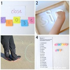 Take the boredom out of spelling practice with one of these creative and fun ways to practice spelling words that will work with any word list. Spelling Bee Games, Spelling Word Practice, Spelling For Kids, Grade Spelling, Spelling Activities, Spelling Words, Fun Activities For Kids, Sight Words, Listening Activities