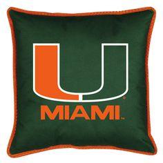 Miami Hurricanes Sidelines Pillow