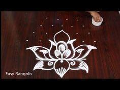 Vinayaka chaturthi special kalasam Kolam with 7 Dots// Kavi Kolam Indian Rangoli Designs, Rangoli Designs Flower, Rangoli Border Designs, Kolam Designs, Rangoli Borders, Simple Rangoli, Creative Video, Dots, Make It Yourself