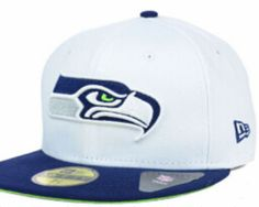 8a42aa6e596 Cheap Wholesale Seattle Seahawks New Era NFL 2 Tone White Team 59FIFTY Cap  Hats for slae