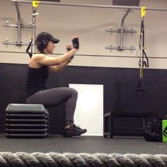Seated box jumps.  Fries your quads.